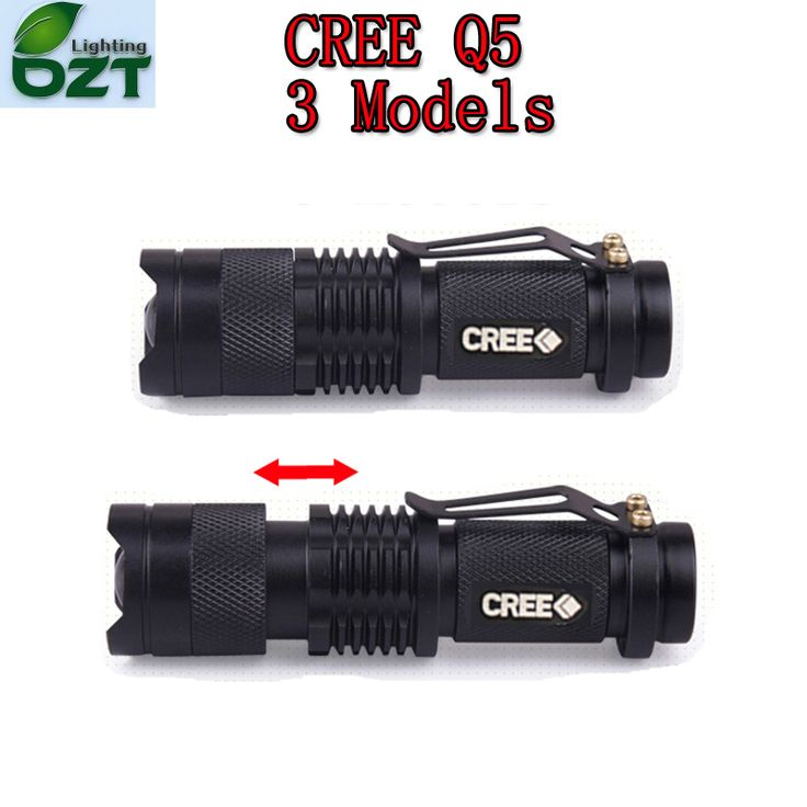 CREE XM-L Q5 450Lumens Cree led Torch Zoomable Cree Waterproof LED Flashlight Torch Light