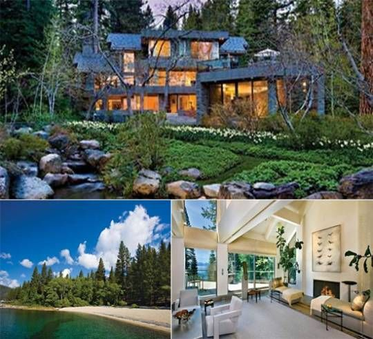 Crystal bay mansion lake tahoe dream homes pinterest for Luxury homes for sale in lake tahoe
