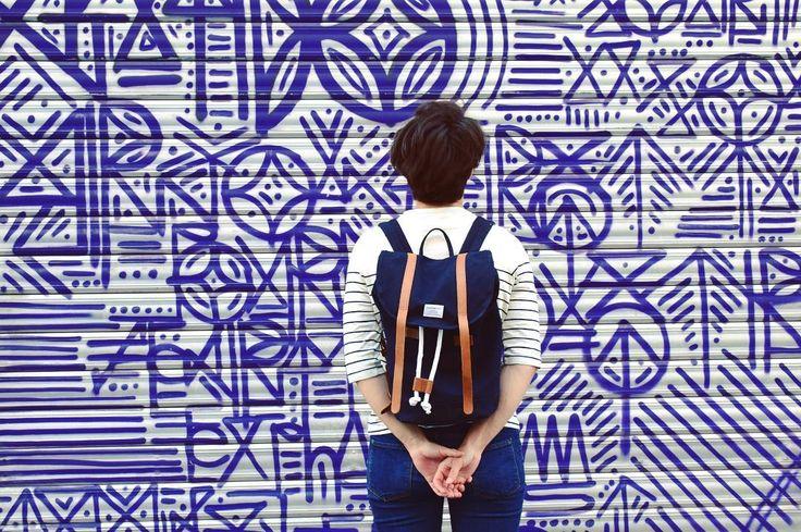 Stig worn by @oz.lyon on Instagram #Sandqvist #Stig #backpack #bookbag #streetstyle #streetart