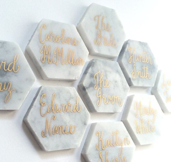 unique wedding place cards   escort cards