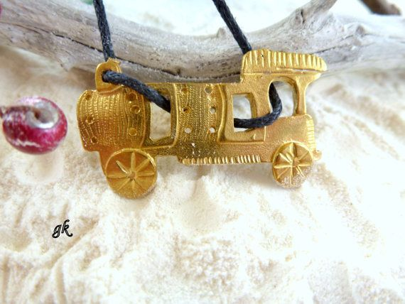 Brass Train Handmade Necklace  Orient Express by GeorgiaCollection, €19.00