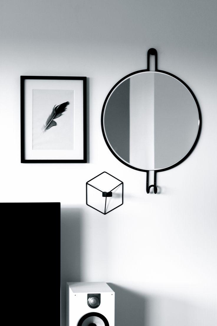 Black and white wall. #bolia #mirror #interior #livingroom #menu #pov
