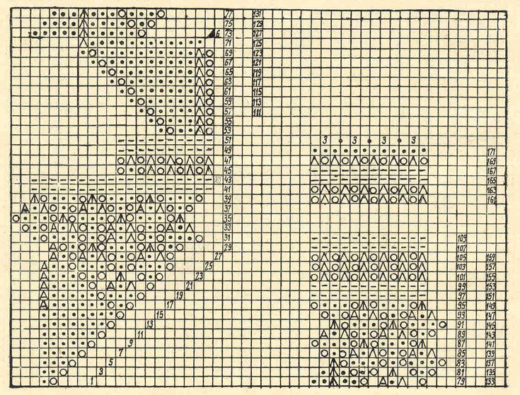 Скатерть 9 - схема. Э.Критеску 'Художественное вязание спицами'