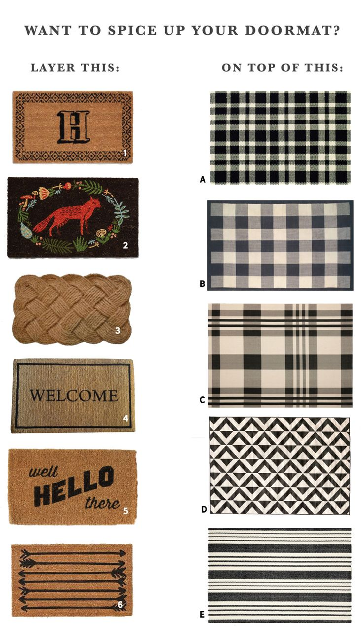 top  best doormat ideas on pinterest  door mats spray paint  - mix and match layered doormat options  a podcast update door matsoutdoor