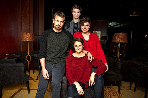 Shailene Woodley, Theo James, Veronica Roth and Ansel Elgort.