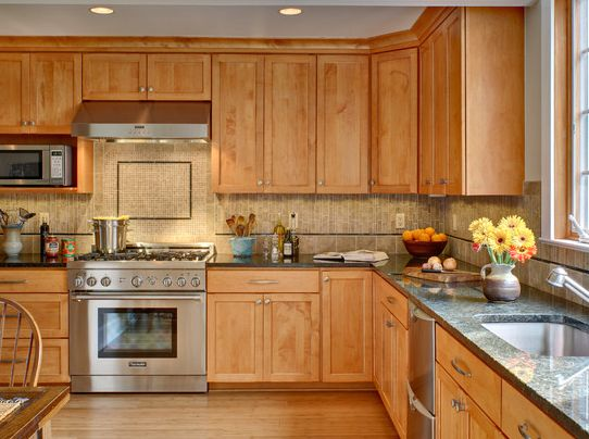 Great Maple Veneer,copy Solid Wood Veneer Kitchen Cabinet