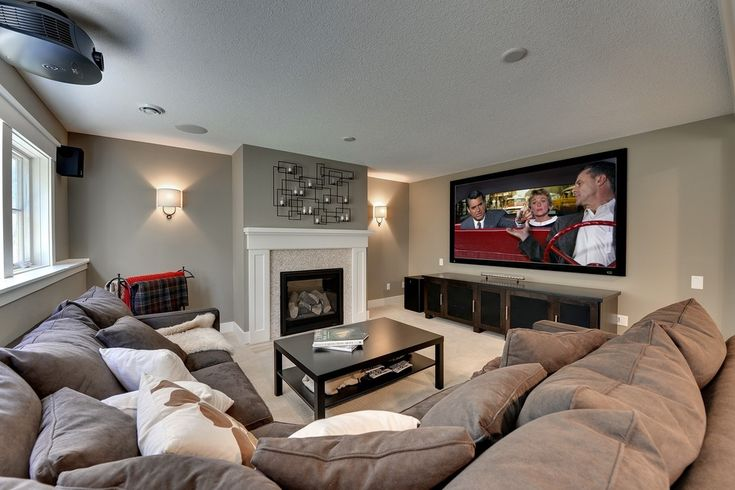 Don't normally like the look of sectionals, but this one looks super comfy for a den/ movie room.