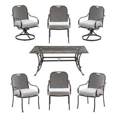 Fall River 7-Piece Patio Dining Set with Cushion Insert (Slipcovers Sold Separately)