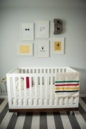 Newborn Styled Photo Session Nursery Inspired By The Hudson Bay Blanket