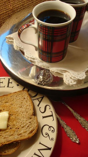 Perfect for Christmas morning: Tartan Plaid, Tartan Christmas, Mornings Coffee, Homemade Jam, Coffee Cups, Tartanplaid, Christmas Mugs, Coff Cups, Christmas Mornings