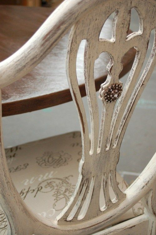add a little bling to the back of a chair -- LOVE THIS!