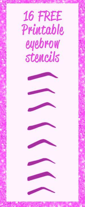 eyebrow printable stencils to use Free Printable Eyebrow Stencils