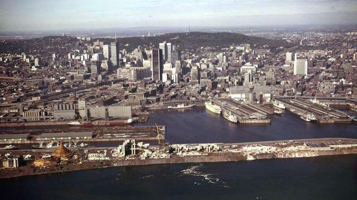 La Cité du havre, le port et le centre-ville de Montréal, 1966 - Archives de la Ville de Montréal