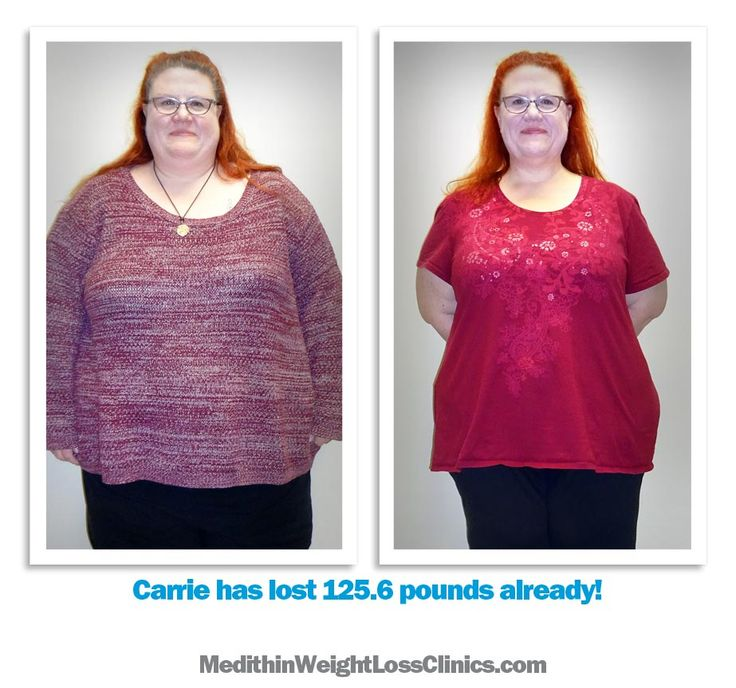 Carrie has lost over 125 ponds with Meithin.