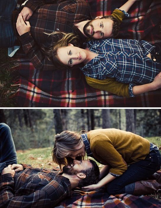 plaid engagement...you know i love a man in plaid!
