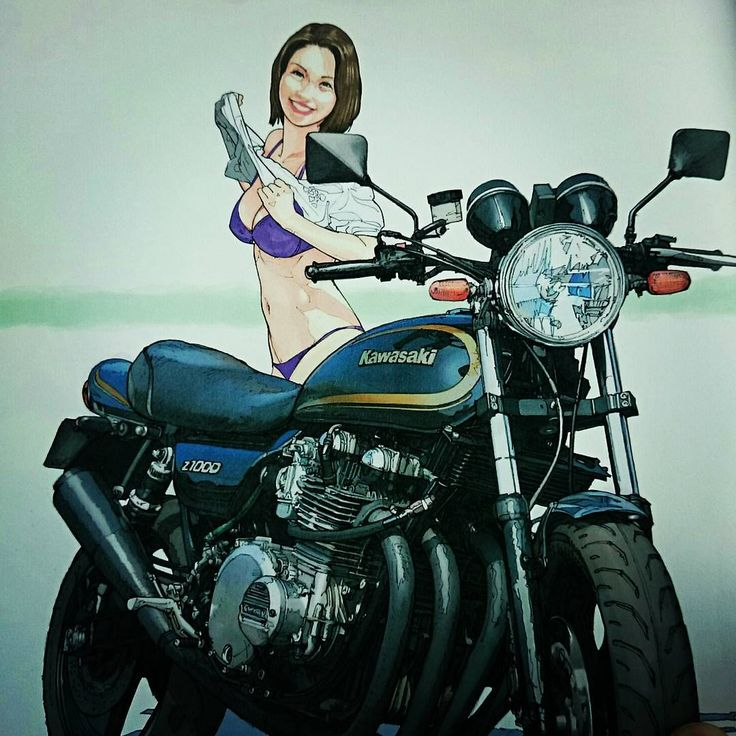 #ライダー#バイク乗り#カワサキ#Z 「バイクと女・・・」 明日は晴れるのか⁉(-.-)