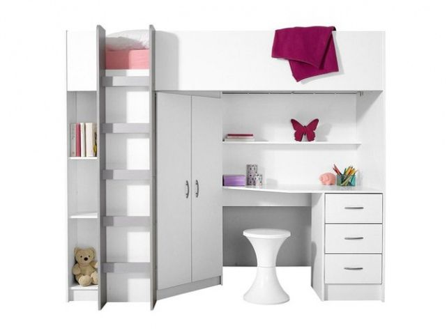 17 migliori idee su lit mezzanine avec bureau su pinterest lettura bambini nook jeux pour ado. Black Bedroom Furniture Sets. Home Design Ideas