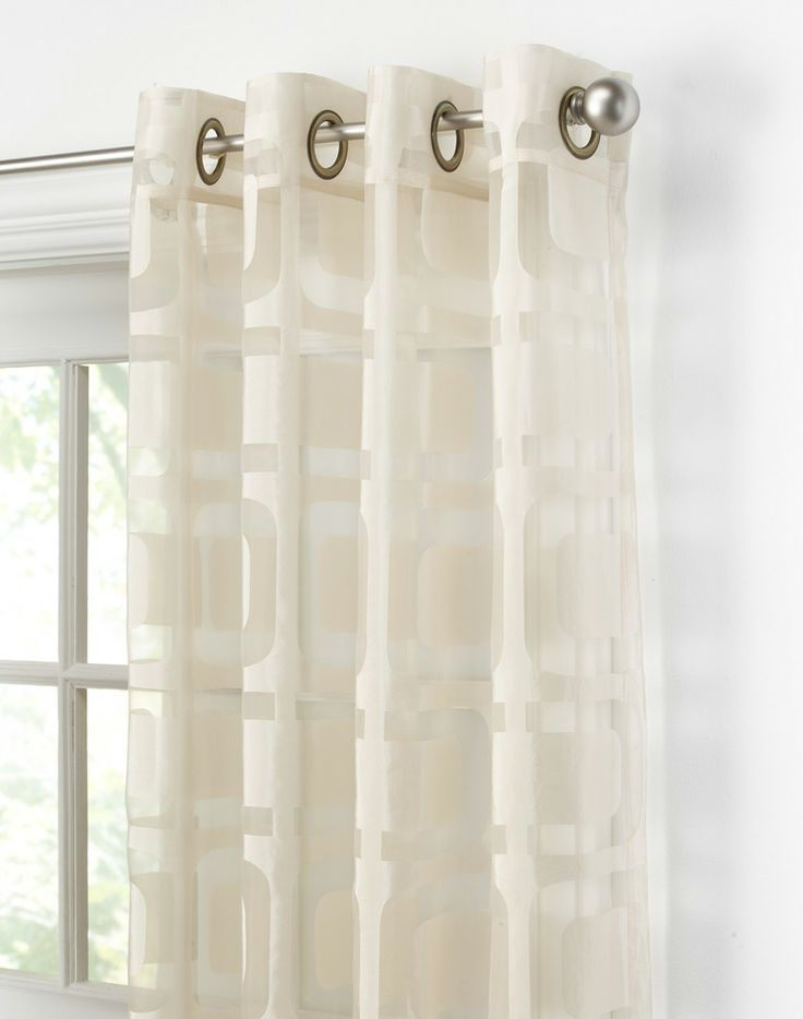 Othello Modern Geometric Curtain Panels Curtainworks For Living Room Curtains In Between