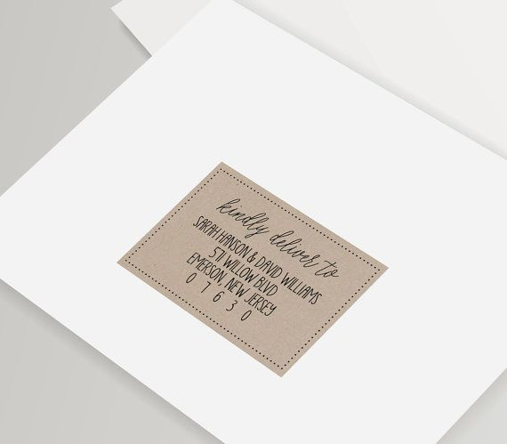 Kraft Envelope Template Editable Wedding Address Template