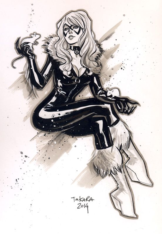 CCXP sketch - Blackcat by marciotakara.deviantart.com on @DeviantArt