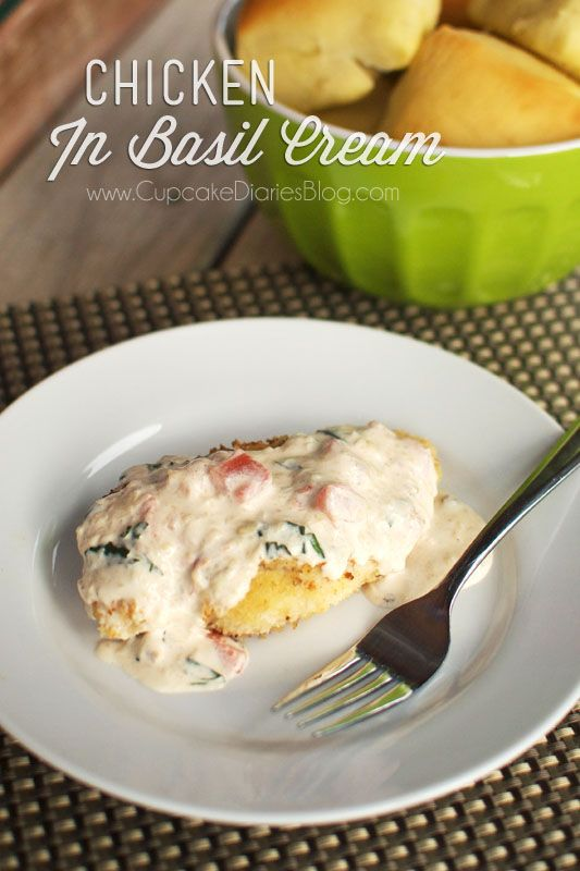 ... Chicken, Cream Sauces, Yummy Chicken, Basil Cream Chicken, Cream