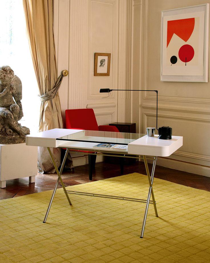 Schön Cosimo Desk Design Marco Zanuso Jr   White Mat Lacquered Adentro Www.adentro .fr