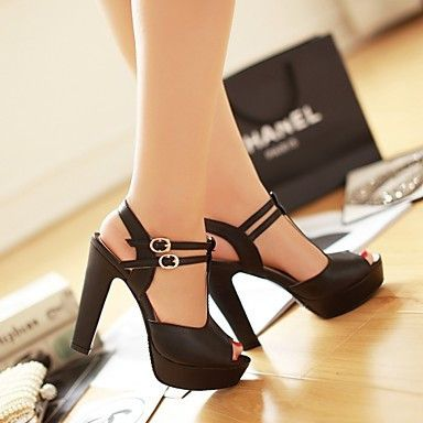 Fashion Platform Peep Toe Outdoor Heels Sandals