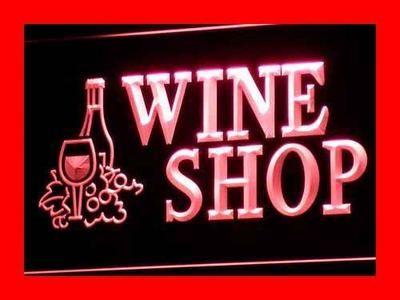 I091-р открытое винный Магазин Бар Паб-Клуб LED Знак Неонового Света Оптовые Dropshipping На/Выключения 7 цветов DHL