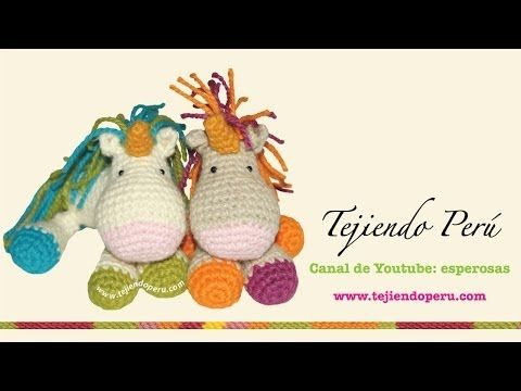 Unicornio tejido a crochet (amigurumi unicorn)