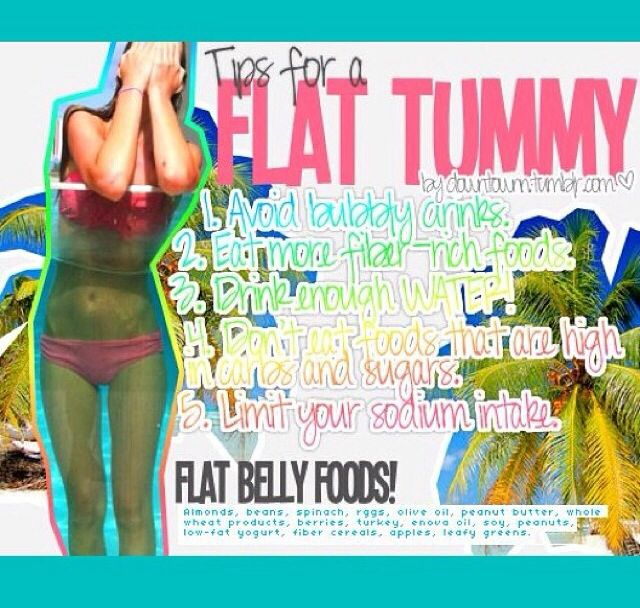 You should be happy with your body, but here are a few tips for a flat stomachs!