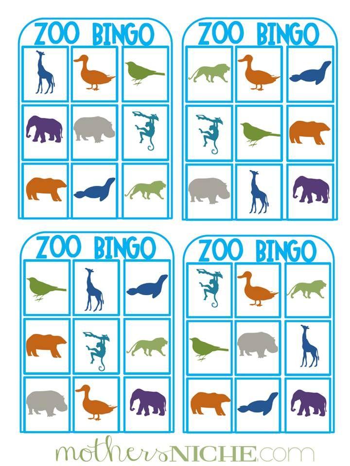 zoo bingo for the preschool/toddler set