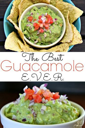 """My """"Best Guacamole Dip EVER"""" is surprisingly easy to make and super healthy! I am always asked to bring this simple and creamy recipe to parties- it is famous! I prefer this homemade recipe a little chunky and a little spicy- that's where the Frank's Hot Sauce comes in. You can eat this avocado dip with tortilla chips or veggies, on a salad, or right off the spoon! It is the perfect appetizer to bring for Super Bowl or Cinco de Mayo!"""