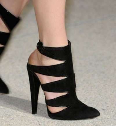 Anthony Vaccarello shoes with sexy cut-outs