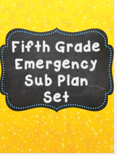 Suddenly sick? No time to run off sub plans? This 20 page NO prep, just print packet is perfect for your fifth graders to work on while you are out