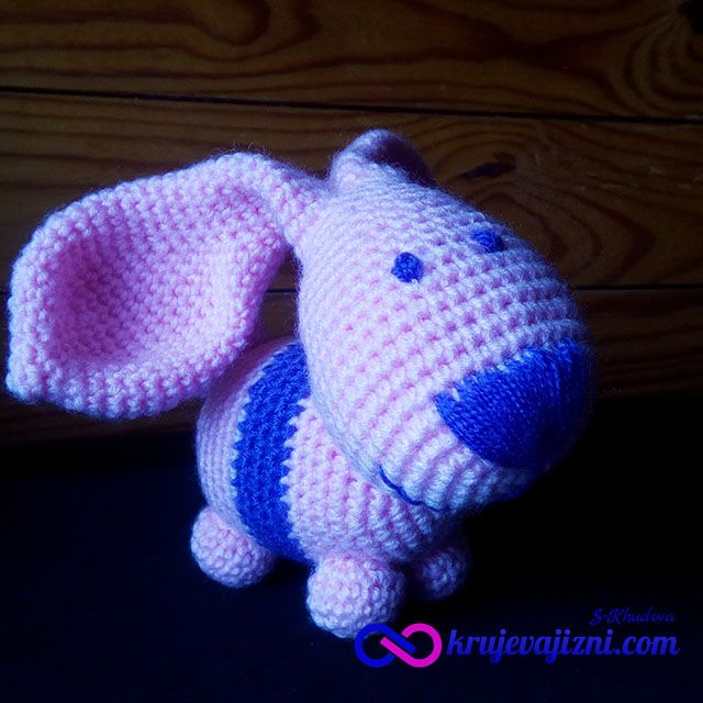 Crochet toy Eared Rabbit . Description crochet. Игрушка вязаная Ушастый Заяц. Описание.