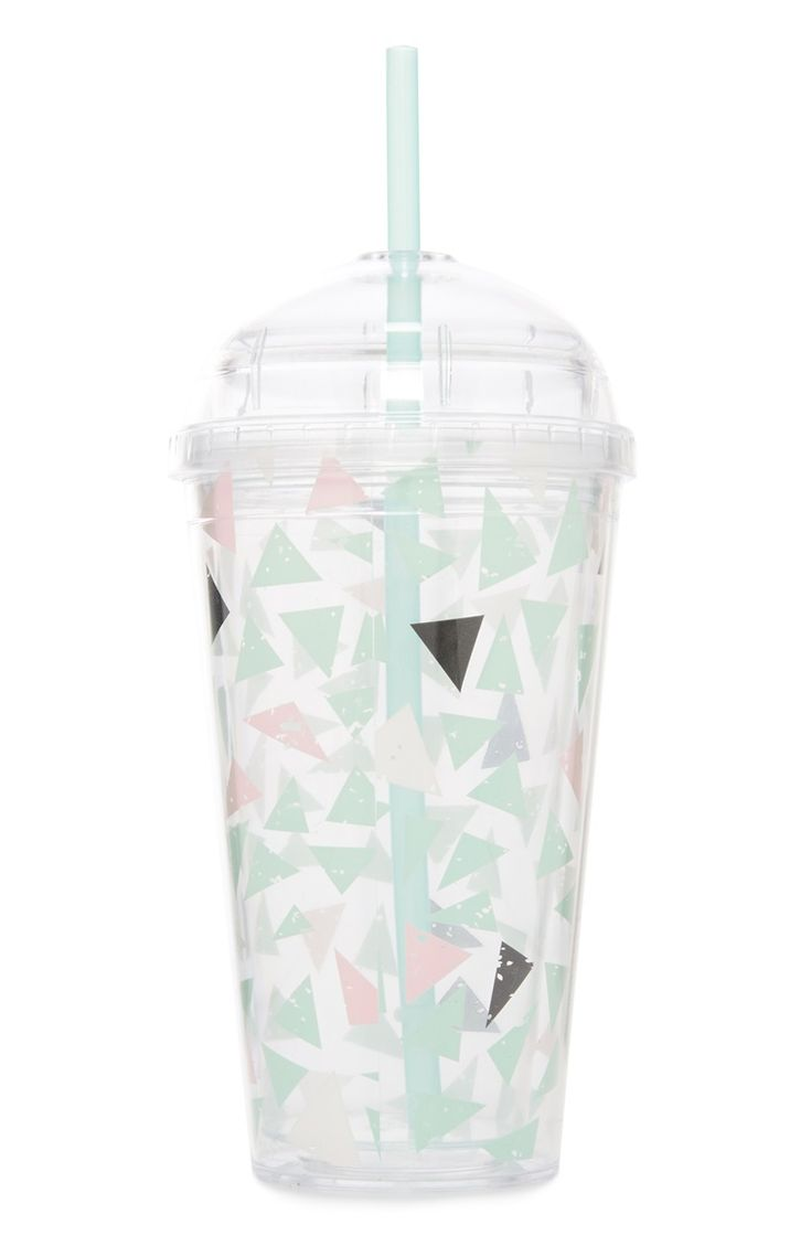 Sip in style with the Gabriella mint and pink cup! from Primark!