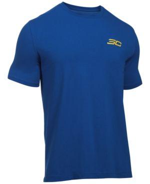 Under Armour Men's Stephen Curry Performance T-Shirt - Blue XXL