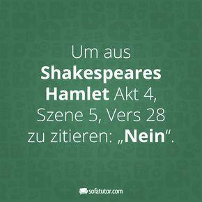 """Mehr witzige Sprüche gibt es hier: magazin.sofatutor… """"Um aus Shakespeares… #aus #Es #g…"""