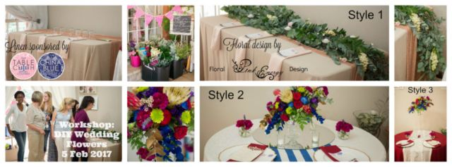 Styles covered in this workshop - DIY Bride Wedding Flowers.