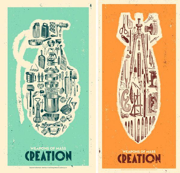 .: Design Inspiration, Graphic Design, Screenprinting, Screen Printing, Art, Illustration, Weapons, Printing Posters