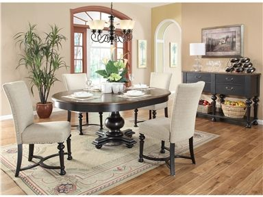 Shop for riverside round dining table base 92652 and for Walter e smithe dining room sets