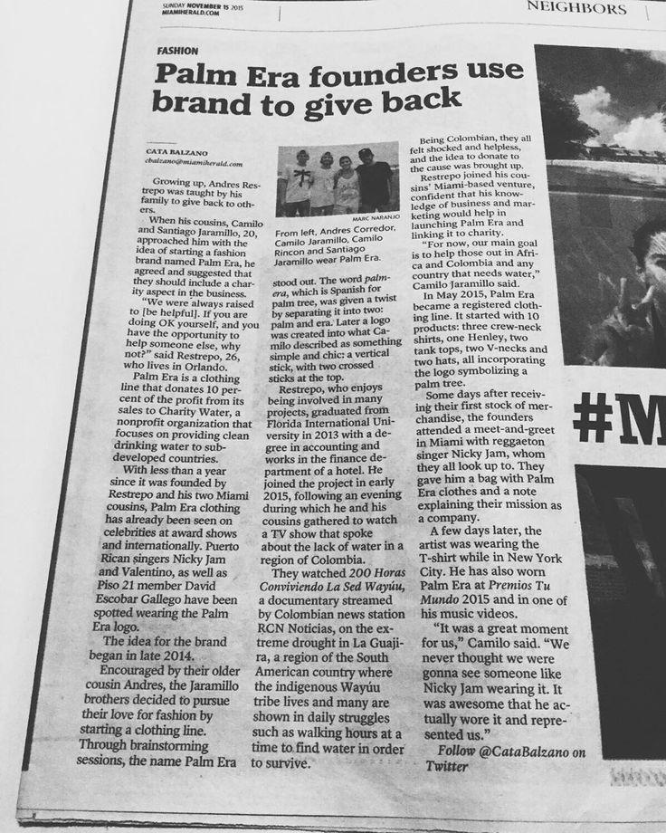 PalmEraMia on the Miami Herald #GiveBack #SocialEntrepreneurship #Entrepreneurs #SaveWater #MiamiHerald #LocalPride