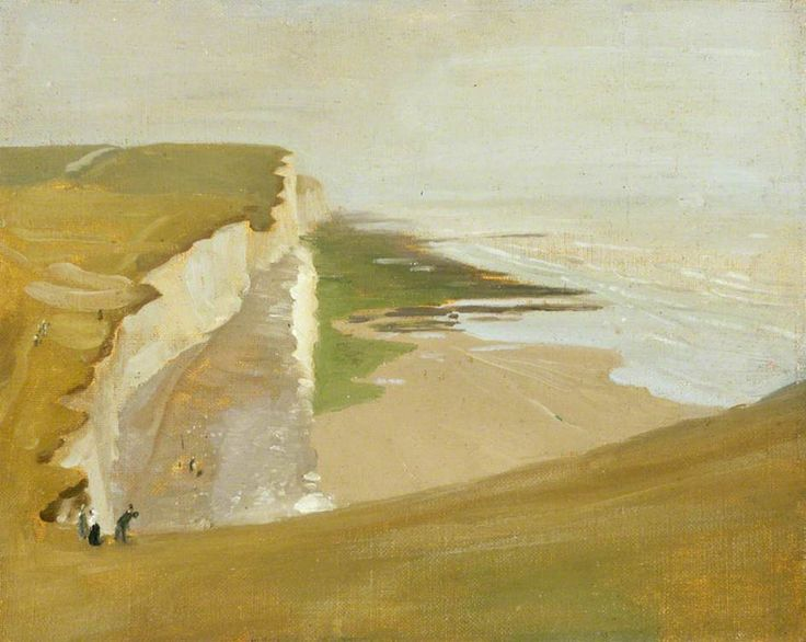 William Nicholson - Cliffs at Rottingdean