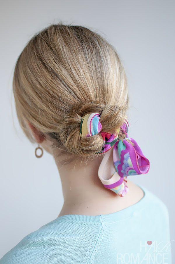 Hair Romance - 30 Buns in 30 Days - Day 10 - Scarf Braid ...