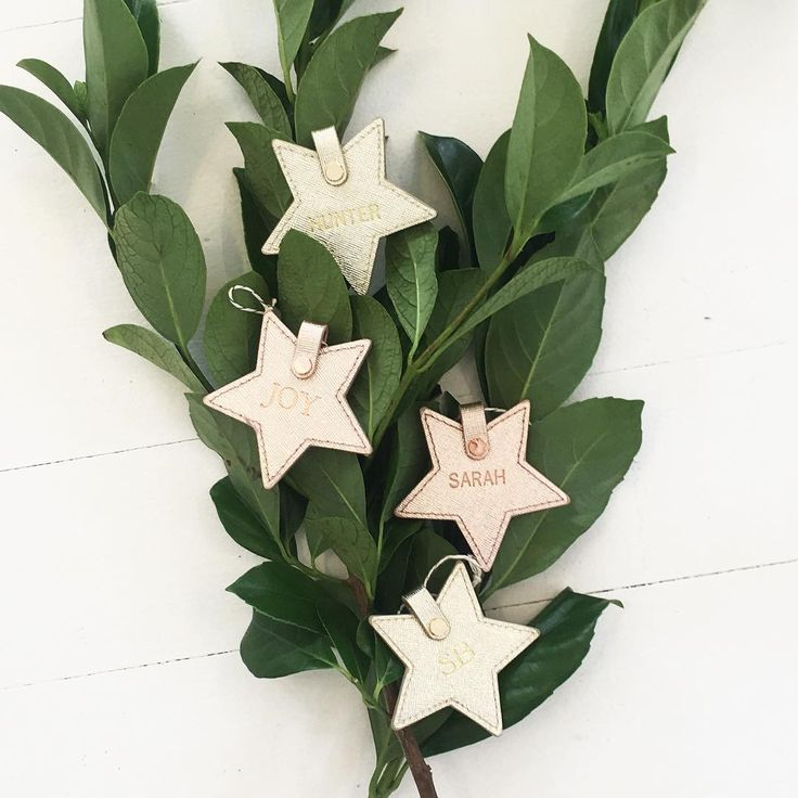 For the ultimate personalised Christmas gift check out our monogrammed leather stars. Available in trending metallic leathers!!  #neueblvd #homewares #monogram #monogrammedgifts #christmas2016 #decor #giftideas #decor #christmastime