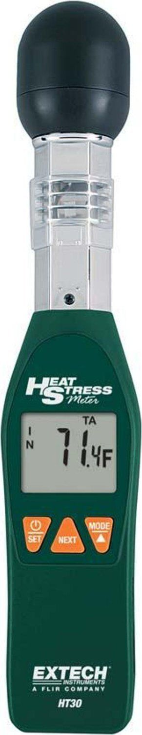 Extech Instruments HT30-NISTL Heat Stress WBGT Meter with Limited NIST   Heat Stress Wet Bulb Globe Temperature Meter that considers the effects of temperature, humidity Read  more http://shopkids.ca/extech-instruments-ht30-nistl-heat-stress-wbgt-meter-with-limited-nist/