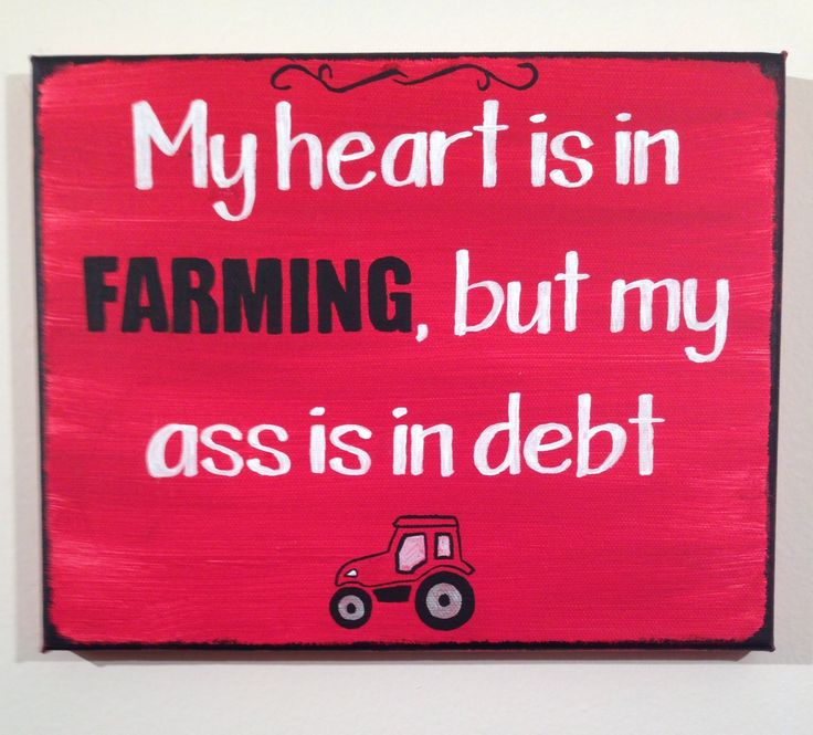 My heart is in farming, but my ass is in debt Case IH sign