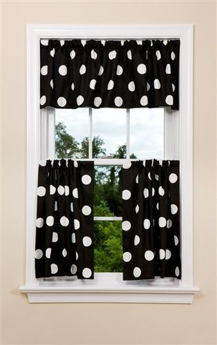 Oxygen Black White In 2018 Polka Dot To Dots Kitchen Curtains