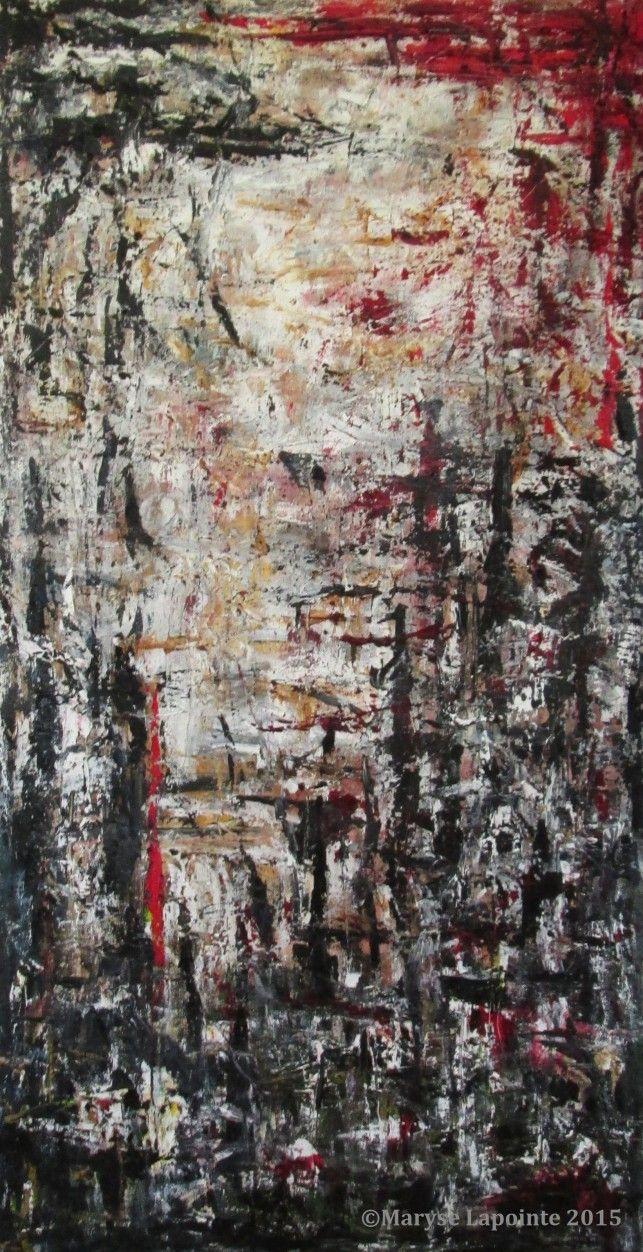 #ashes, #cendres,   Cendres / Ashes – 2015 Huile/toile 50 x 27 po. (127 x 68.5 cm) 1350$