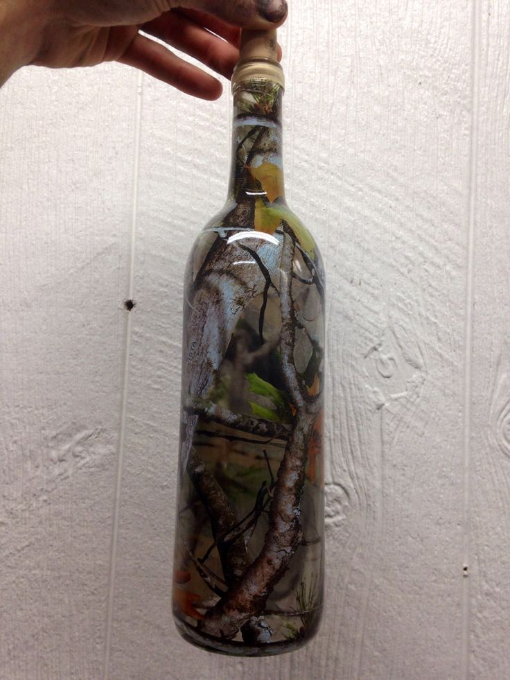 Hydro Dipped Camo Wine Bottle Exclusively At Tts Hydrographix Tts Hydrographix Diy Hydro